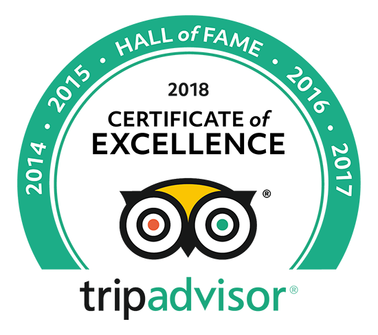Trip Adviser - Certificate of Excellence 2018